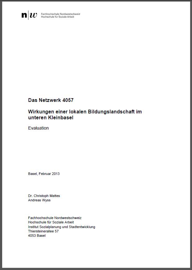 Schlussbericht Evaluation Netzwerk 4057